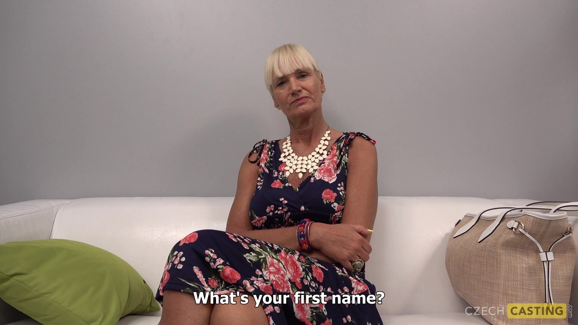 Mature Lady In Threesome Action At Casting - Claire Blonde