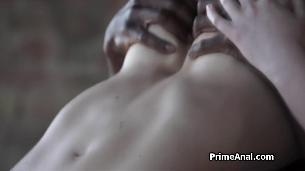 Deep BBC anal penetration for busty brunette