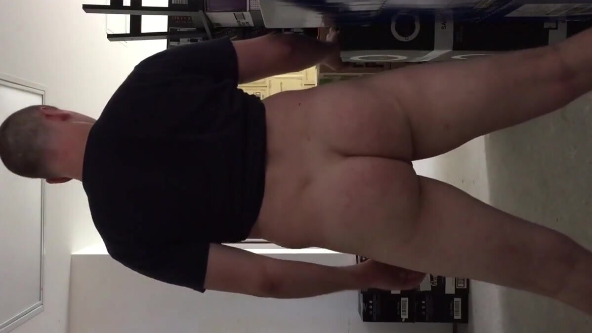 Sissy showing off ass at work