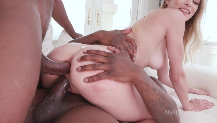 Kyler Quinn takes two BBCs in the ass anal, DP BIW001