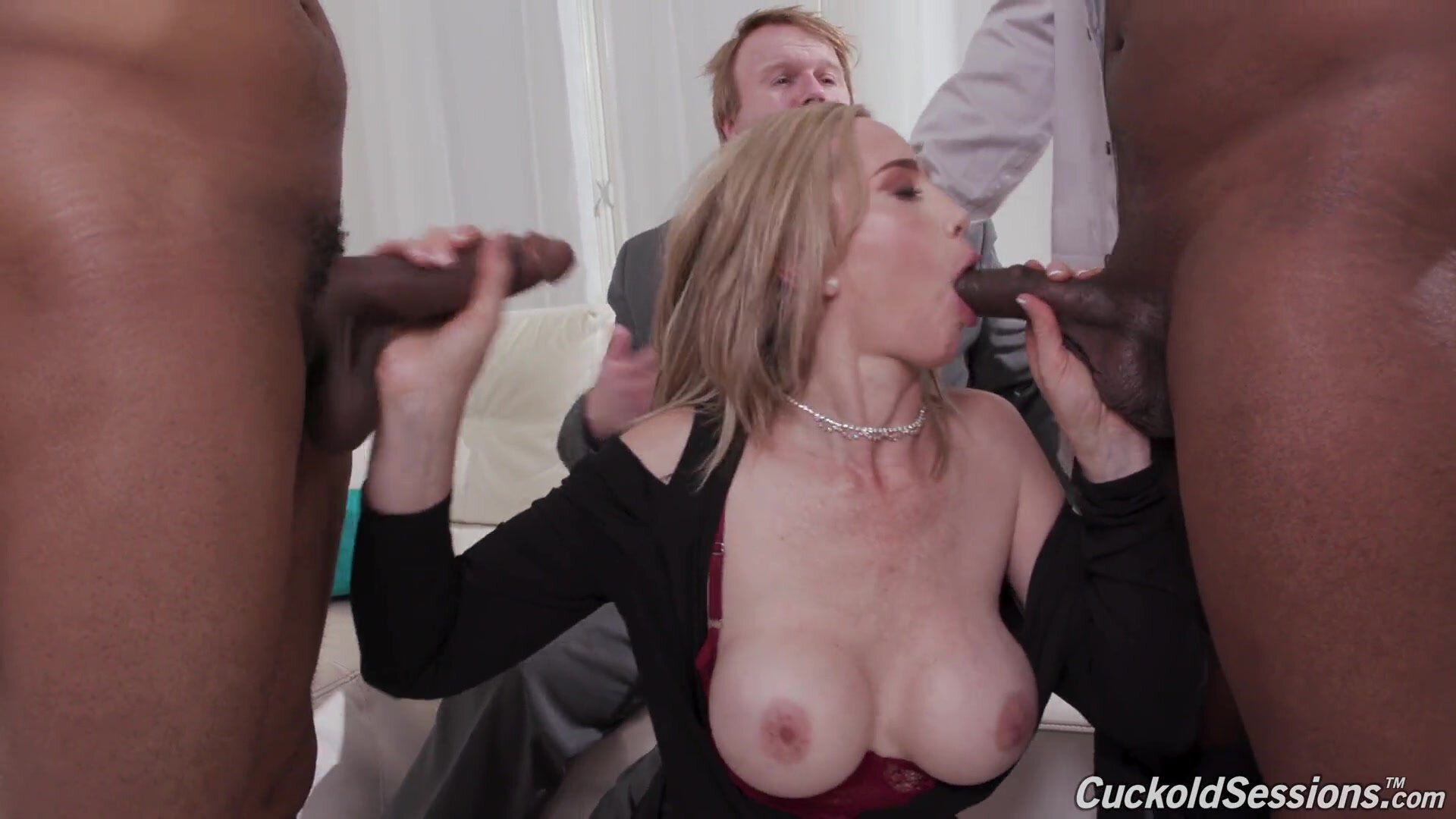 Guy Watches His Wife In Gang Bang Action - Lilly James